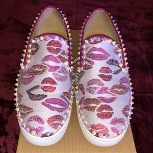 PIK BOAT WOMAN FLAT LUREX LIP SNEAKERS - Size 39